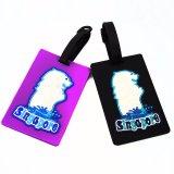 Etiqueta conocida del PVC del equipaje animal flexible de la historieta para los regalos del recuerdo del recorrido (YB-t-007)