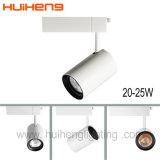 Tienda de ropa Aluminio 15W 20W LED de color blanco de la luz de la pista