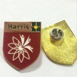 Distintivo dorato su ordinazione dello schermo del metallo per l'emblema del randello