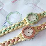 최상 나무로 되는 시계 석영 시계