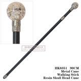 Ручка 90cm HK8351 металла шпаги тросточки головки черепа смолаы гуляя