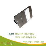 SL010 200W luz de rua LED com fio de cobre de classe industrial