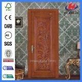 Le cadre de porte intérieur d'artisan découpent la porte en bois de luxe en bois (JHK-006CS)