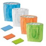 Зеленые легкие адаптированные складная изолированный охладитель сувениры с молнией