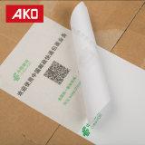 Papier thermosensible blanc imperméable à l'eau d'étiquettes d'expédition de doublure d'auto-collant d'excellente qualité