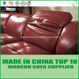 Base di sofà di legno dell'angolo del cuoio genuino della mobilia