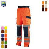濃紺および蛍光性10本のポケット貨物ズボン