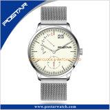 Montre-bracelet spéciale en verre voûtée arquée de Sppphire Ronda Movt de cadran