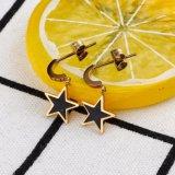 最新の様式の金によってめっきされるFashioinの星のイヤリングのたがのイヤリング