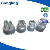 Chapeau de fer galvanisé 210kn selon la norme ASTM A153 pour la porcelaine ou en verre isolant
