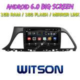 """Grand écran 9"""" Witson Android 6.0 DVD de voiture pour Hyundai Sonata de 9e génération (haute)"""