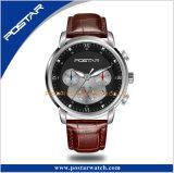 Relógio de pulso de cristal do movimento de quartzo da safira da caixa de aço inoxidável do indicador 316L do tempo