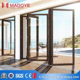 Porte de pliage en aluminium en verre givré de bâti du marché en gros de la Chine