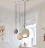 زخرفة بيتيّة [رترو] زجاجيّة مدلّاة ضوء ([9203-5ب])