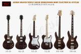 Großhandelszebrawood-Satin-Ende-elektrische Gitarren-preiswerter Preis