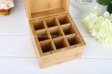 Rectángulos de bambú del compartimiento para las botellas de petróleo esencial