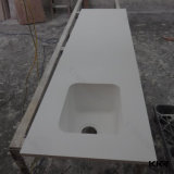 Dessus de vanité de pierre de quartz de salle de bains de Kkr pour le projet de salle de bains
