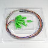 Divisor do PLC 1*16/divisor de fibra óptica com o conetor do Sc APC