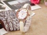 Nueva señora reloj del OEM de la manera de la alta calidad con el reloj genuino del cuarzo de la correa de cuero