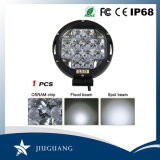 7 pulgadas de tamaño opcional 9pulgadas LED redonda de inundación del punto de luz de trabajo fuera de carretera Accesorios carretilla