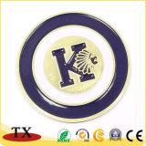 O logótipo em relevo a medalha de metal e desafio Coin