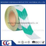 Hohe Sicht-Grün-Pfeil-Gefahr-reflektierendes Rollenband (C3500-AW)