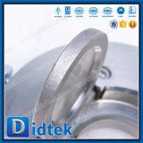 Válvula de verificação da bolacha da placa do selo de borracha do aço inoxidável de Didtek F316 única