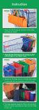 Insieme isolato riutilizzabile del sacchetto del carrello della drogheria