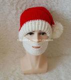 Chapéu tricotando manualmente adulto do Natal do chapéu de Santa