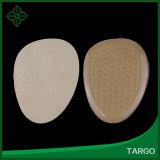 Tecido de damasco antepé Almofada de gel de PU almofada da almofada de sapata