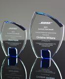 Tamaño pequeño y gran premio de trofeo de cristal con logo Imprimir