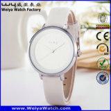Orologio delle signore di modo del quarzo della cinghia di cuoio di servizio su ordinazione (Wy-085B)
