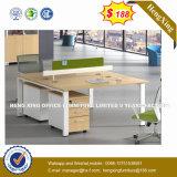 Mobilier de bureau moderne en acier Forme de l Cherry Table Office (HX-8NR0283)