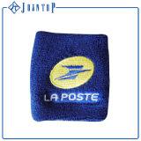 卸し売り安い習慣はバルク手首の綿のSweatbandを刺繍する