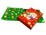 Caixa de embalagem bonita feita sob encomenda do papel do Natal do cartão para o presente com fita