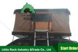 梯子車のトラック4X4のキャンプ車の上の自動テントが付いているリトルロックの屋根の上のテントの堅いシェルのキャンピングカートレーラーの屋上のテント