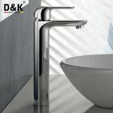 Grifo alto plateado cromo popular del lavabo del cuarto de baño de la sola palanca de la concesión del diseño de Reddot