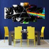 Lienzo de la pintura de arte moderno de fotograma póster de la imagen del panel de pared 5 Música Decoracion Impresión en lienzo para Salón marco