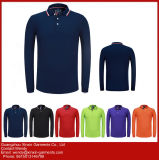 Camisas grossas feitas sob encomenda do polo T do algodão do piqué 65% da alta qualidade 210GSM do bordado (P227)