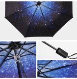 نجم يطوي تصميم ثلاثة دليل استخدام مظلة مفتوحة