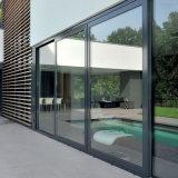 Los materiales de construcción de la puerta corrediza de aluminio para el exterior