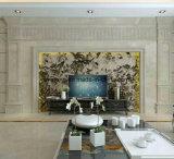 Pedra mármore granito polido natural para parede&Floordecoration lado a lado