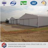Hangar ligero prefabricado de la estructura de acero en Argelia