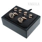 VAGULAの新しい人の宝石類の金によってめっきされるタキシードボタンカラースタッドのカフスボタンS305