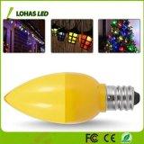 Mini LED AMARILLO C7 E12 10W Bombilla LED lámpara de noche equivalente para la iluminación del hogar