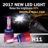 Großverkauf drei seitliches 8000lm 40W H7 9005 super heller LED Auto-Scheinwerfer H11 H4 9006 des Ventilator-LED Scheinwerfer-Birnen-der Leistungs-