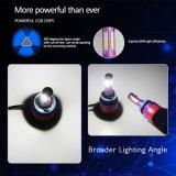 Tres lados mayorista 8000LM 40W H7 9005 9006 Fan faros LED Bombilla LED de alta potencia Super brillante faro coche H4 H11