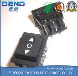 Pequeño interruptor redondo negro de 2 Pin con la cubierta impermeable
