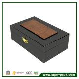 Design especial Pintura Retro azul escuro da caixa de madeira