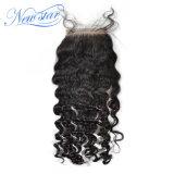 capelli umani del Virgin dell'onda allentata cinese del nodo candeggiati chiusure del merletto 5X5